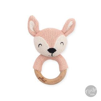 Jollein Bijtring Deer Pale Pink
