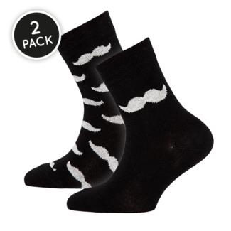 Ewers Sokken Snor Zwart (2-Pack)