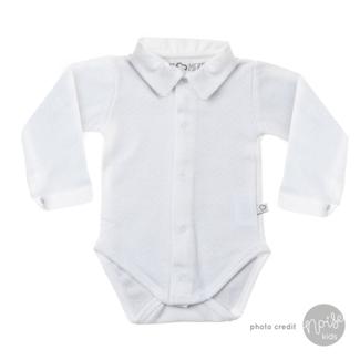 Mats & Merthe Romper Boy Collar White