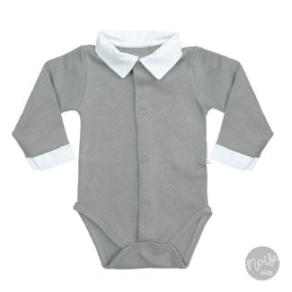 Mats & Merthe Romper Boy Collar Grey
