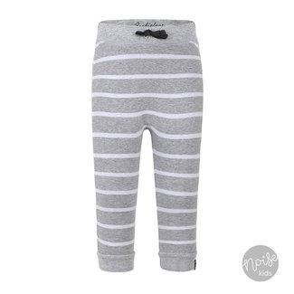 Beebielove Broekje Stripe Grey White