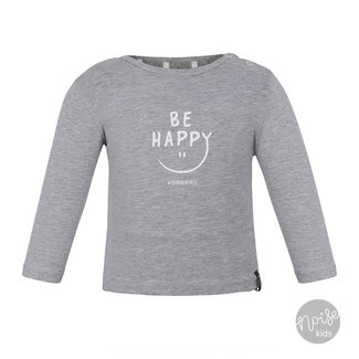 Beebielove Shirtje Be Happy Grey