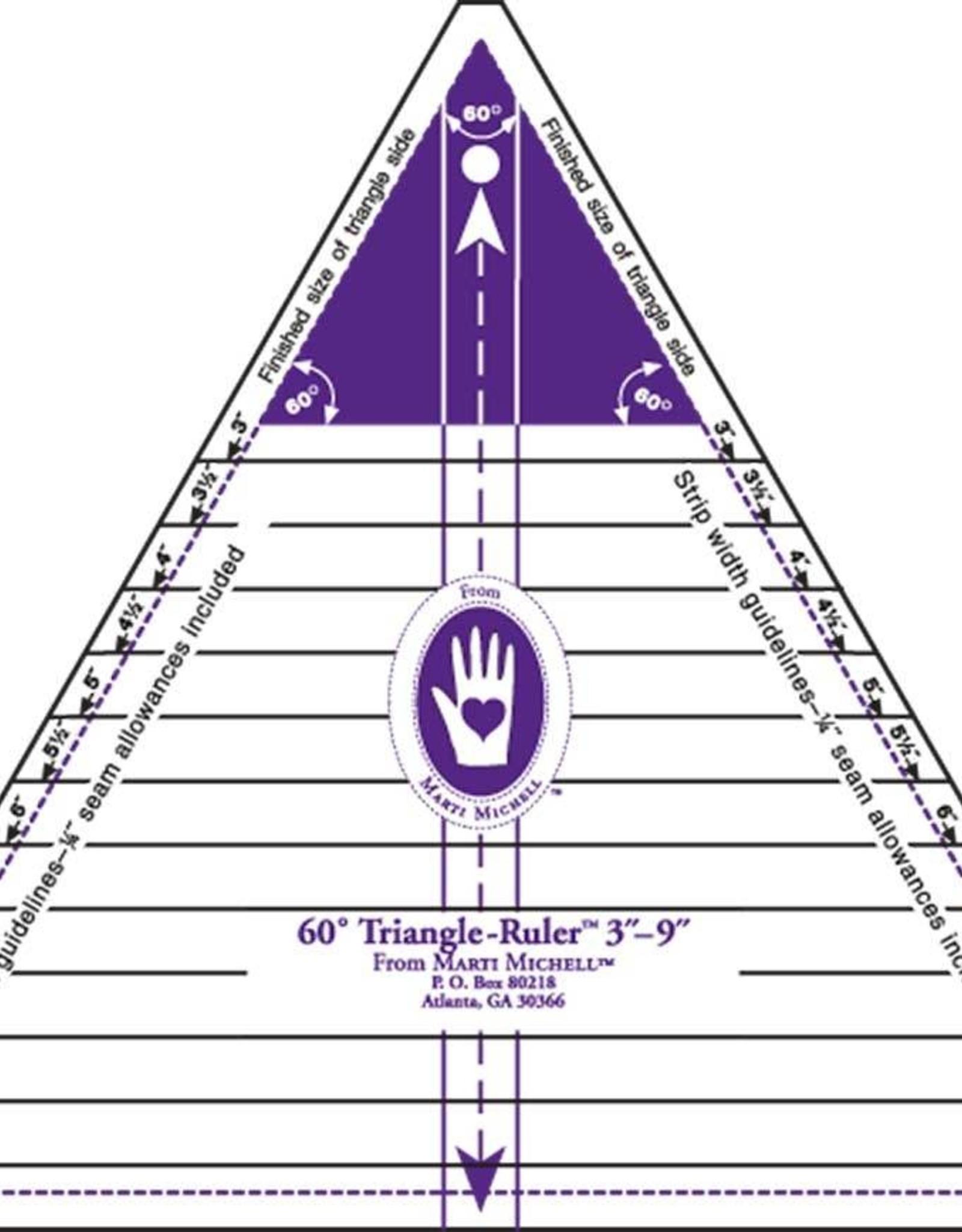Marti Michell großes 60 Grad Dreieck Schablone