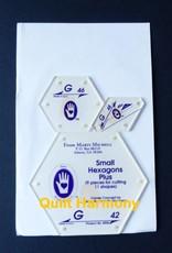 Marti Michell Schablonenset G Small Hexagon Plus