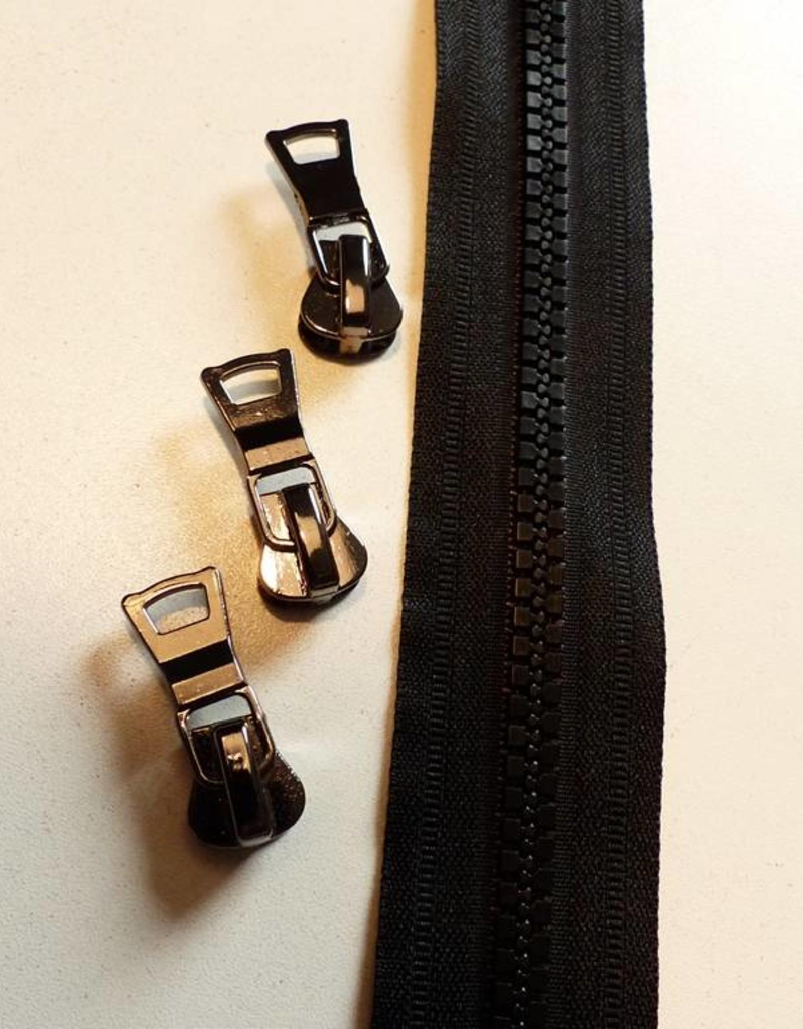 Union Knopf Endlosreißverschluss 8 mm schwarz