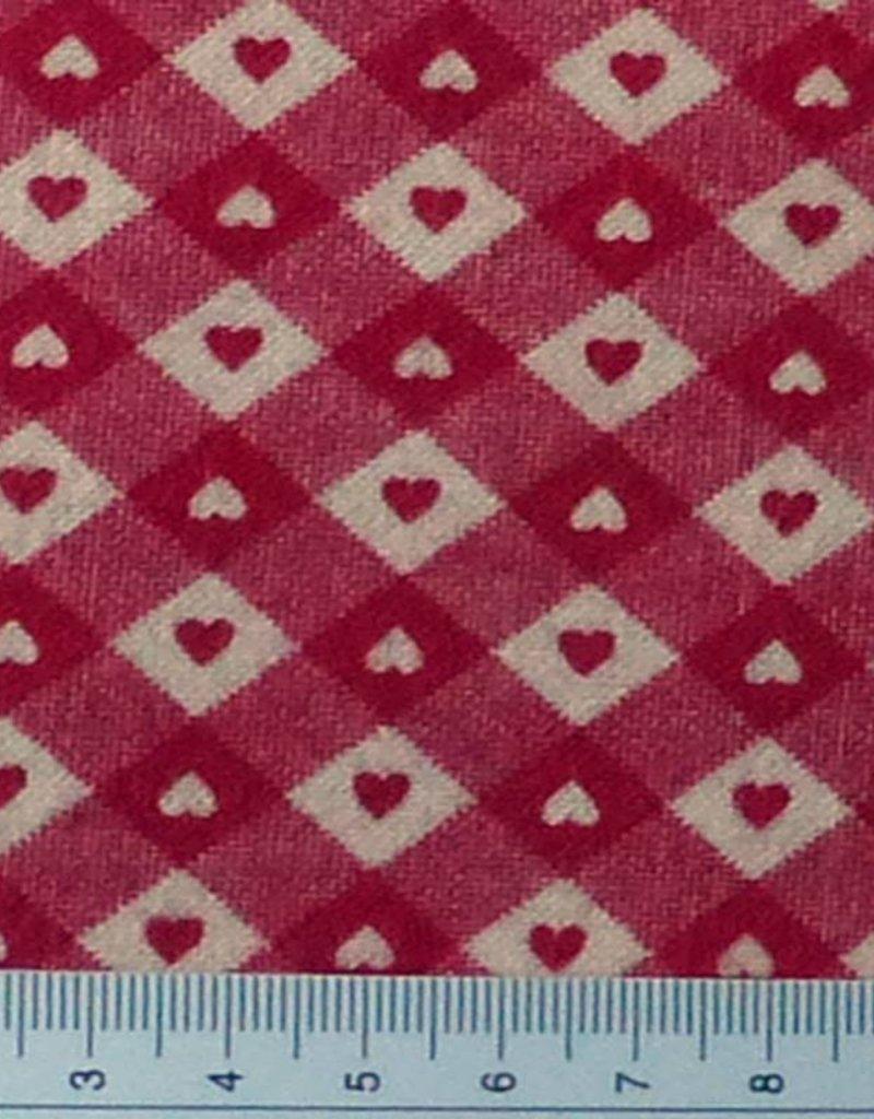 Diverse 10 cm  Herzen rot weiß