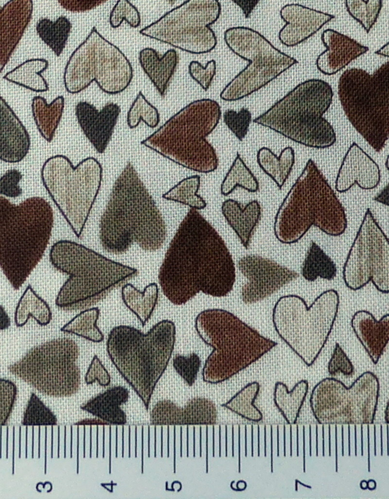 Stof  10 cm Hearts2you