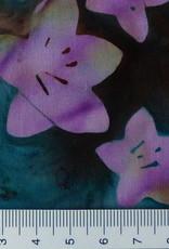 Diverse 10 cm   Batik Blüten rosa grün