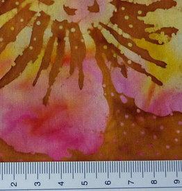 Diverse 10 cm Batik Blumen gelb rosa