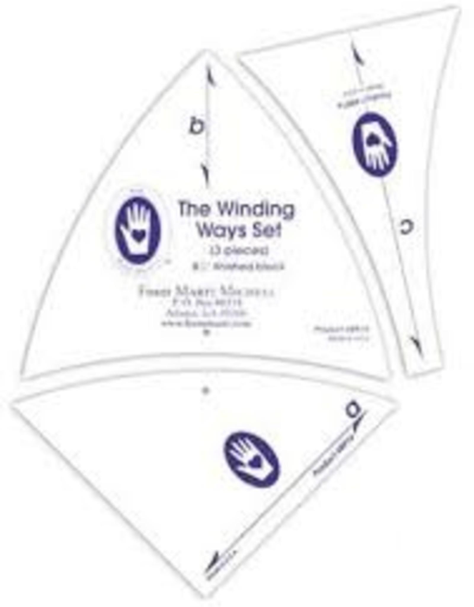 Marti Michell Schablonenset Winding Ways 6 Inch,  8,5 Inch und 11 Inch