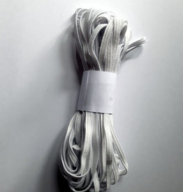 Gummilitze 5 mm weich, weiß