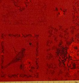 Stof 10 cm Rosie´s Love Letters