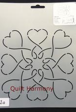 Quiltschablone Herzen