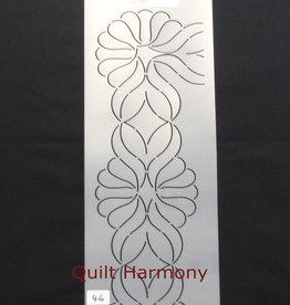 Quiltschablone Federborte 12 cm