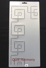 Quiltschablone Geometric Border