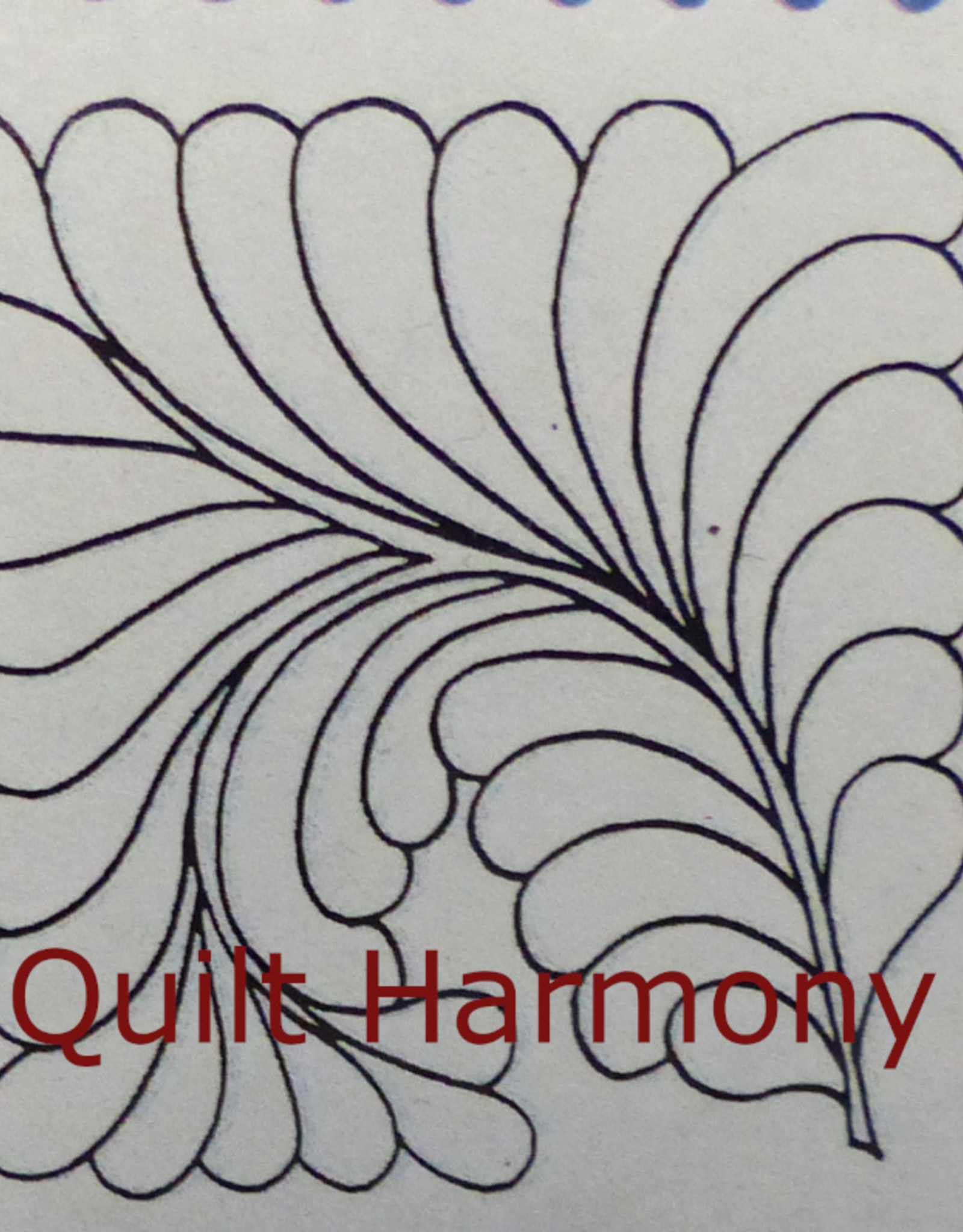 Quiltschablone Full Line Stencil Feather Square