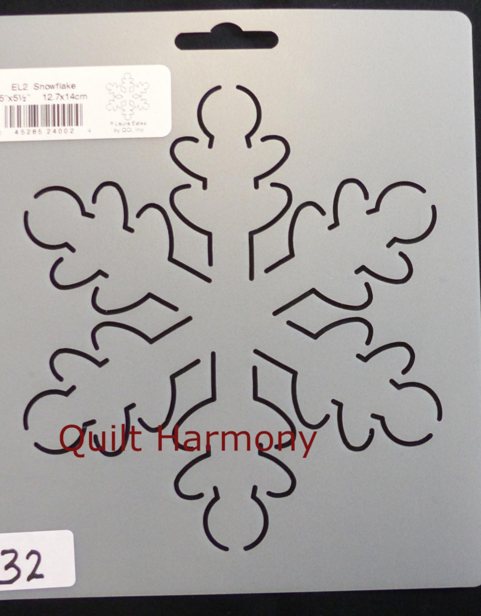 Quiltschablone Snowflake