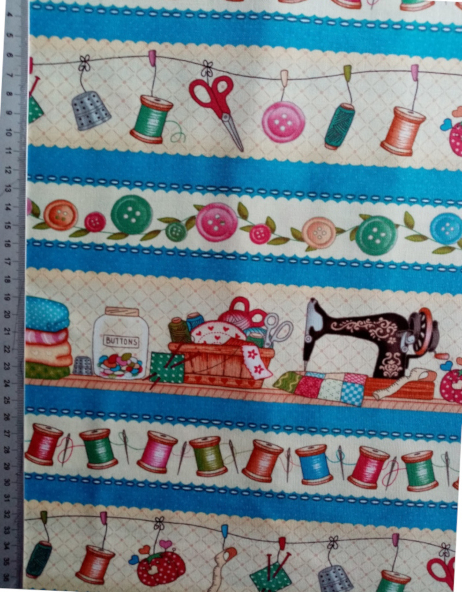 Henry Glass 10 cm Sew Let´s Stitch Border Print