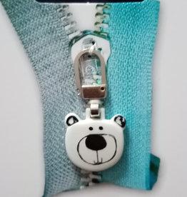 Union Knopf Zipper Pull Bärengesicht