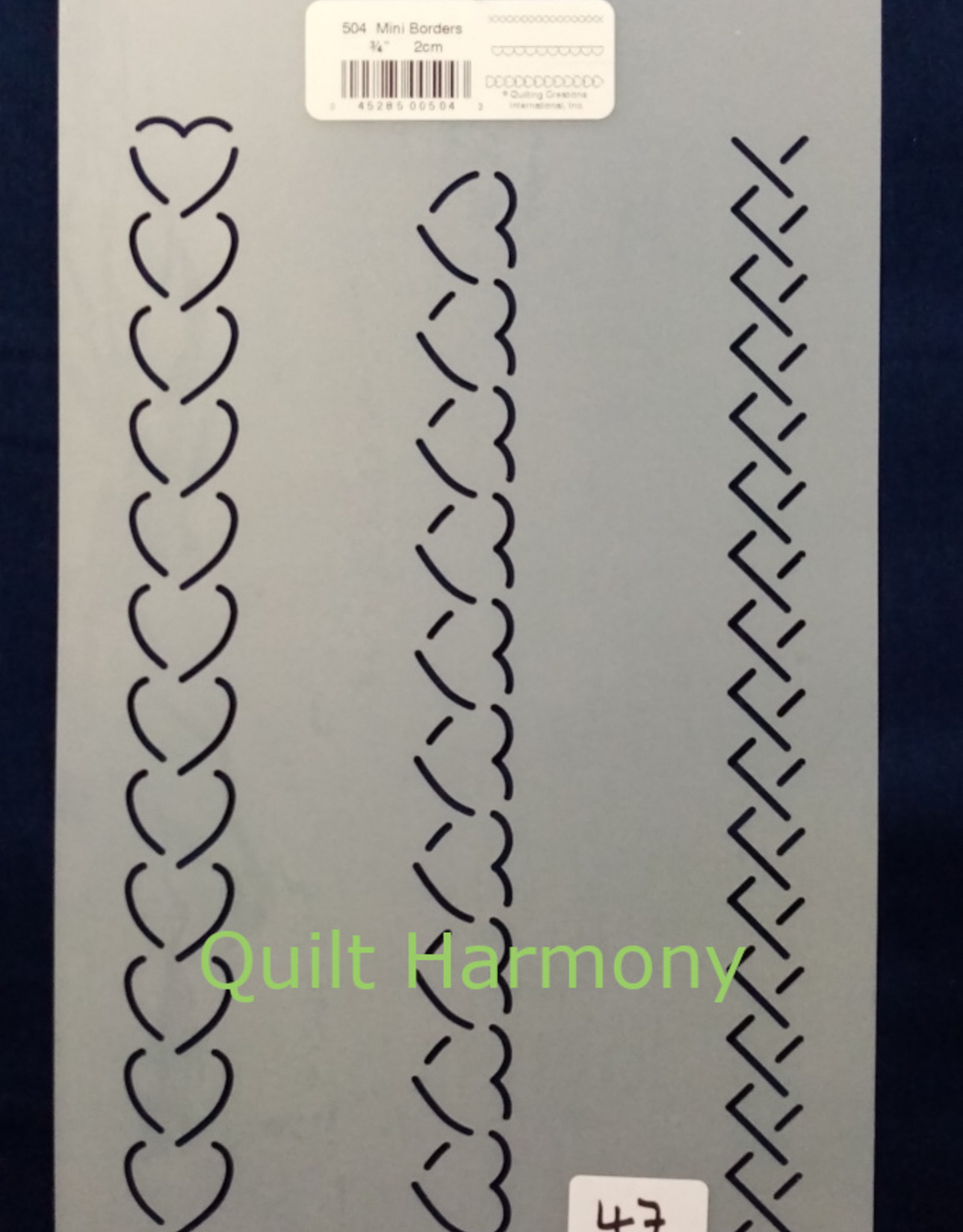 Quiltschablone 3 Mini Line Borders