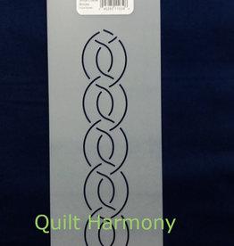 Quiltschablone Chain Link