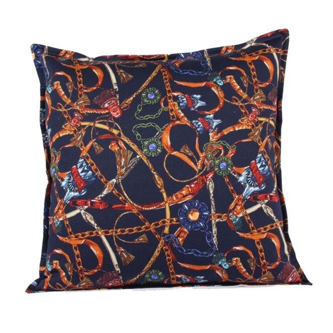 Throw Pillow 45x45 cm - Baxter- Blue