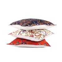Throw Pillow  45x45 cm Horse Tassels and Belts - Baxter   - ecru