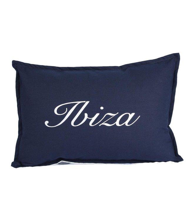 Sierkussen 35x50 cm  - Navy linnen - Ibiza
