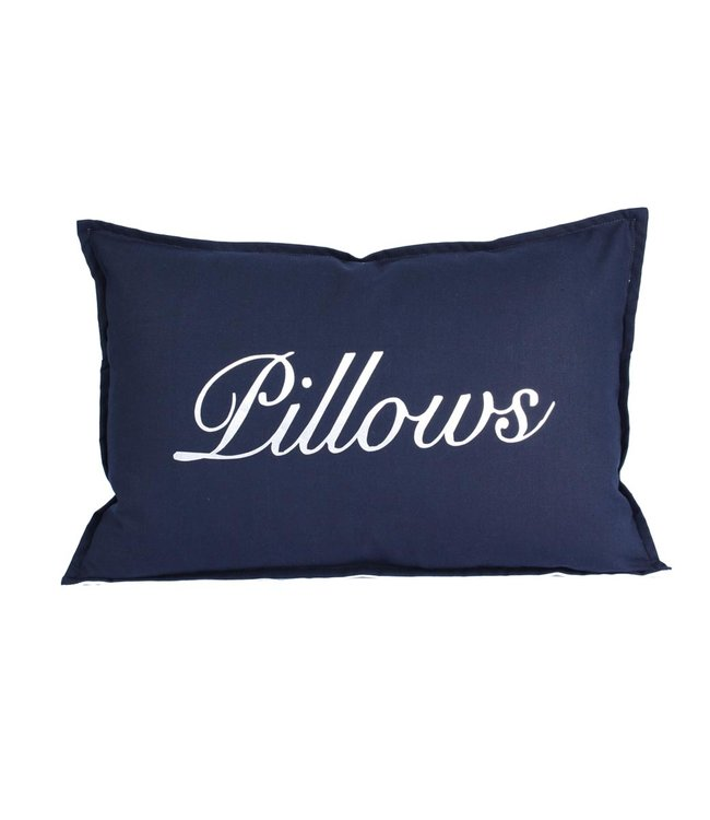 Throw Pillow 40x60 cm - Navy linen - Pillows