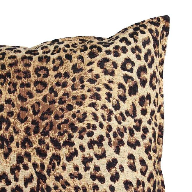 Sierkussen 60x60 cm  - jacquard - Luipaard