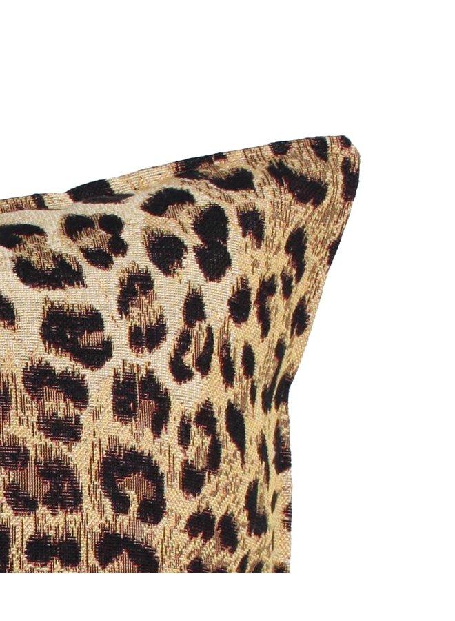 Sierkussen 40x60 cm  - jacquard - Luipaard