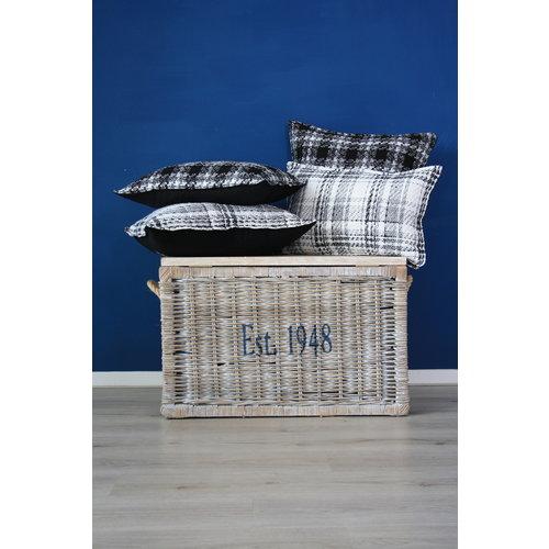 Throw Pillow 60x60  cm  -Bouclé - Lancelot - White