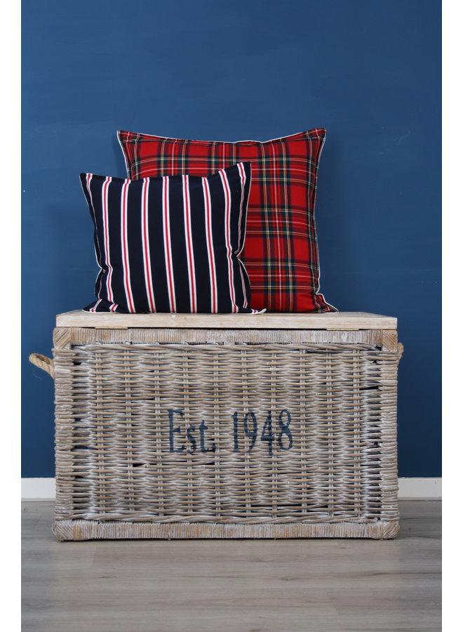 Throw Pillow 45x45 cm  - Club stripe navy