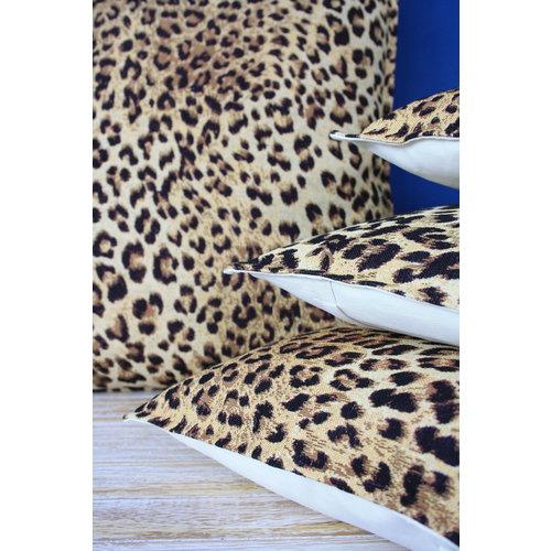 Throw Pillow 45x45 cm  - jacquard - Leopard