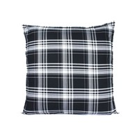Throw Pillow 60x60 cm - Chester - Tartan - black and white