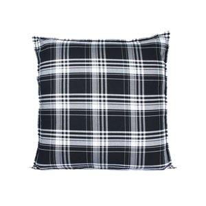 Sierkussen 60x60 cm  - Chester - Schotse ruit - zwart wit