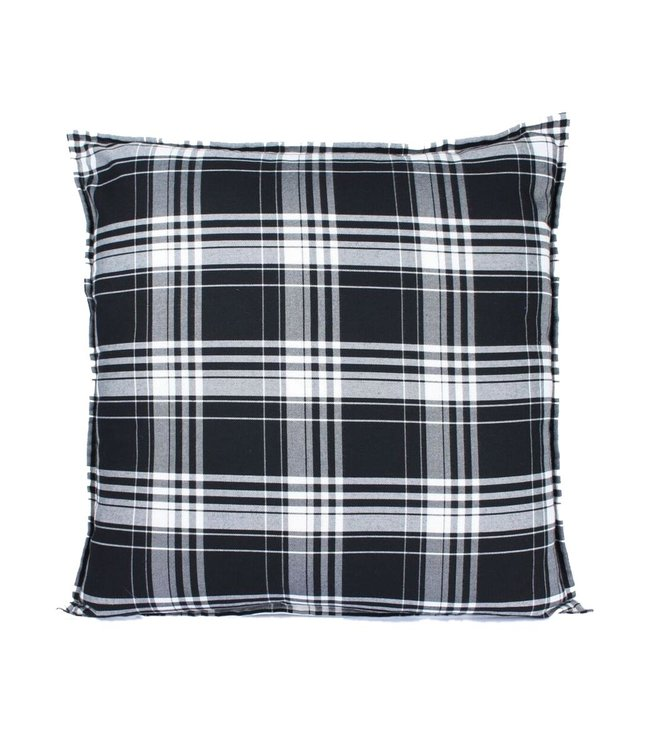 Throw Pillow 60x60 cm - Chester - Tartan - black and white
