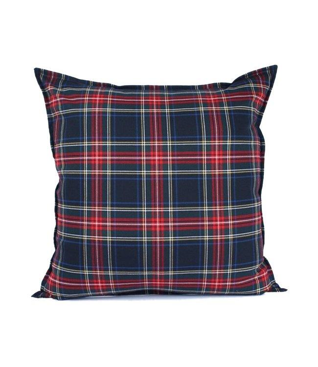 Sierkussen 60x60 cm  - Chester - Schotse ruit - blauw rood