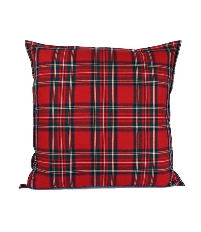 Sierkussen 60x60 cm  -Chester - Schotse ruit - Rood