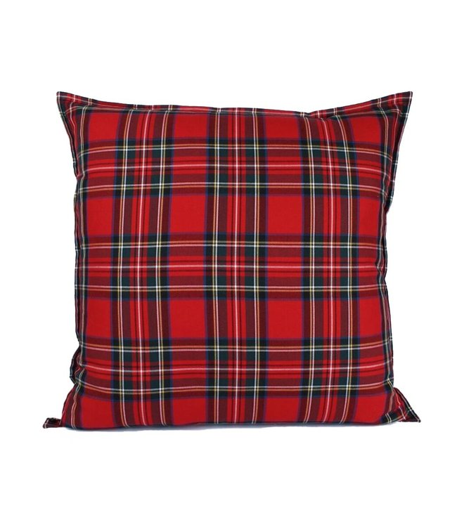 Throw Pillow 60x60 cm - Chester Tartan - Red