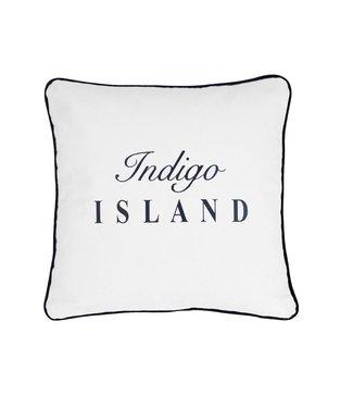 Throw Pillow 45x45 cm - Maritime - Indigo Island - Blue and white
