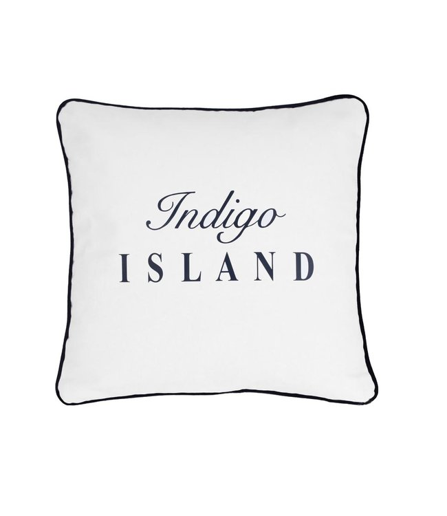 Throw Pillow 45x45 cm - Maritime - Indigo Island - Blue and white