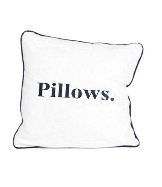 Sierkussen 45x45 cm  - Maritime - Indigo Pillows - Blauw wit