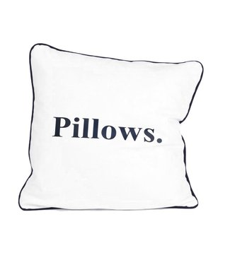 Throw Pillow 45x45 cm - Maritime - Indigo Pillows - Blue white