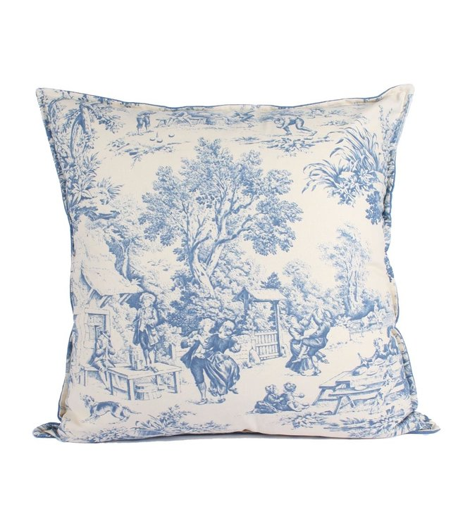 Throw Pillow  60x60 cm  Toile du jour  - Denim