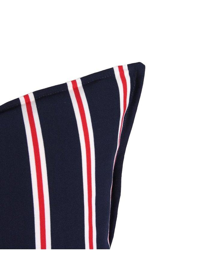 Sierkussen 45x45 cm  - Club stripe navy