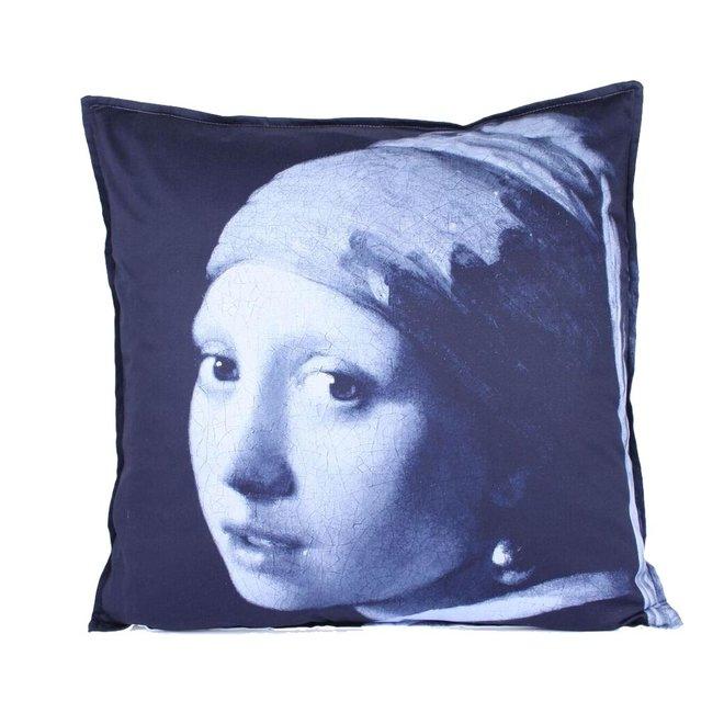 Indigo Island Amsterdam – Vermeer – Sierkussen 60x60 cm - Blauw