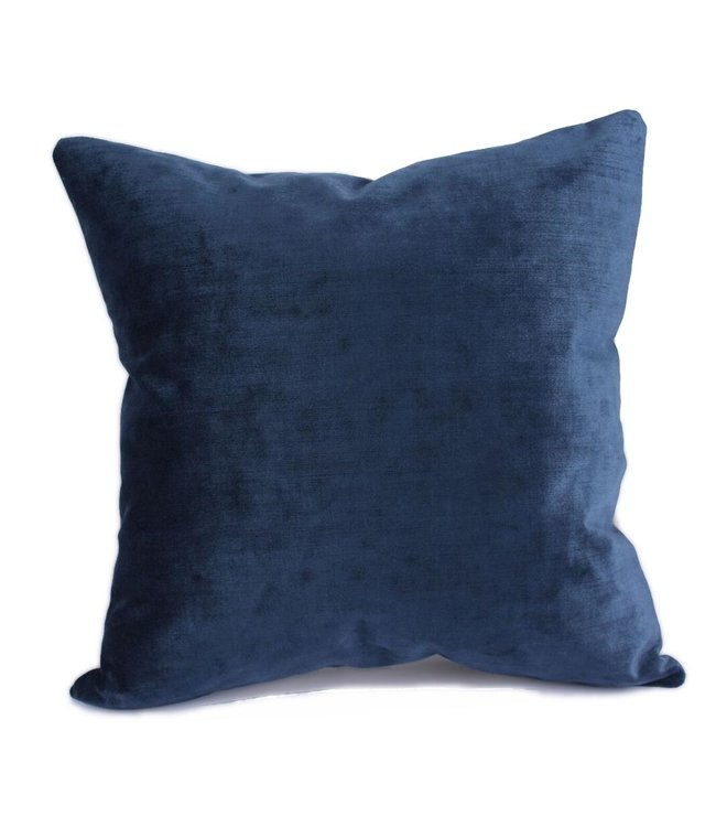 Throw Pillow 45x45 cm -  indigo velvet