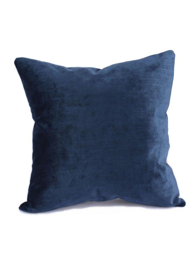 Throw Pillow 45x45 cm -  indigo velvet