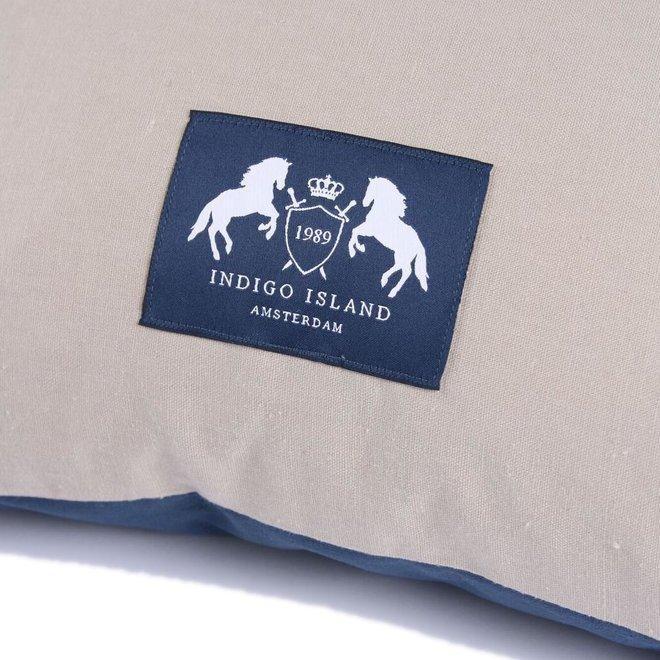 Throw Pillow 45x45 cm -  indigo velvet - blue